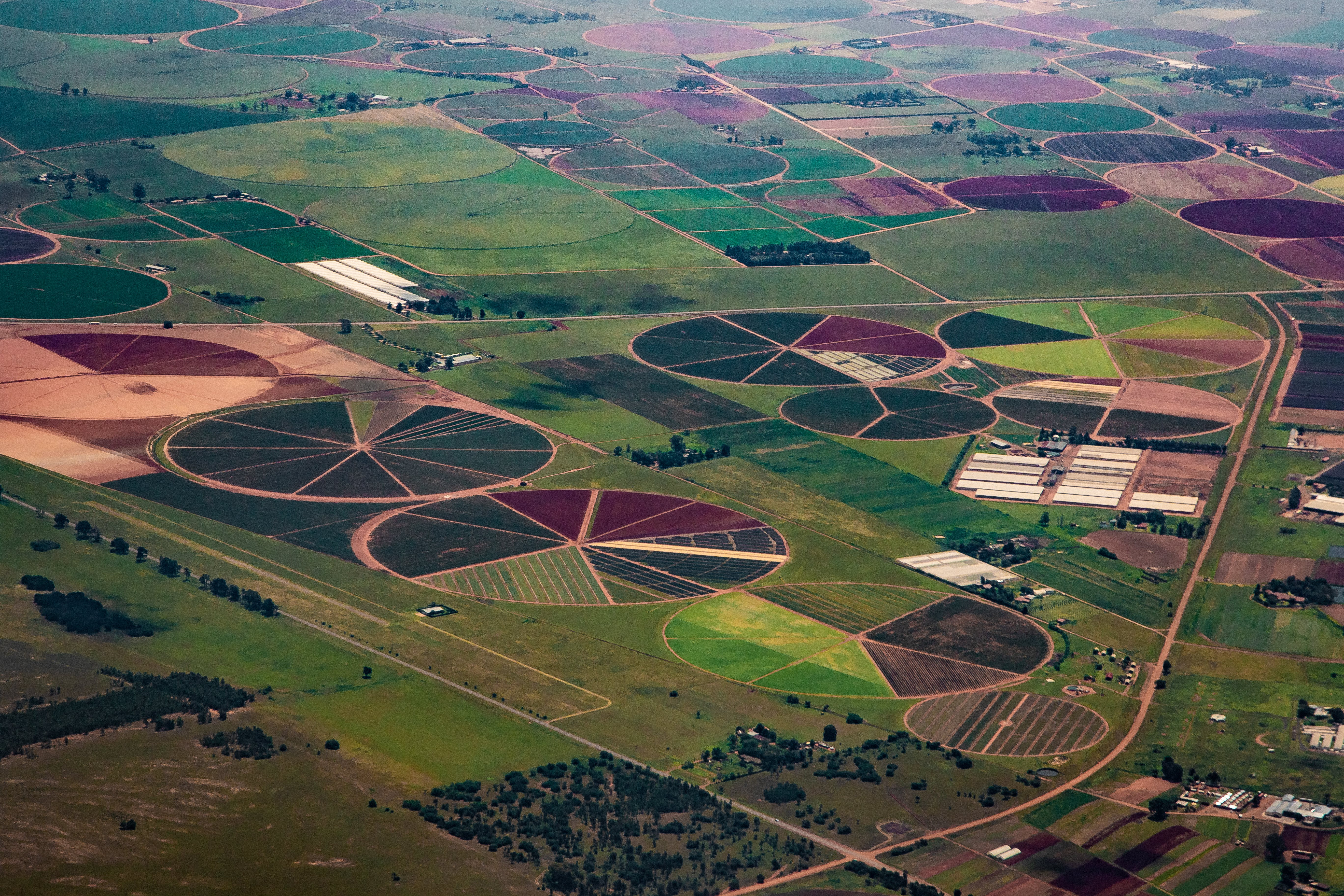 Free stock photo of aerial shot, aerial view, agriculture, circles