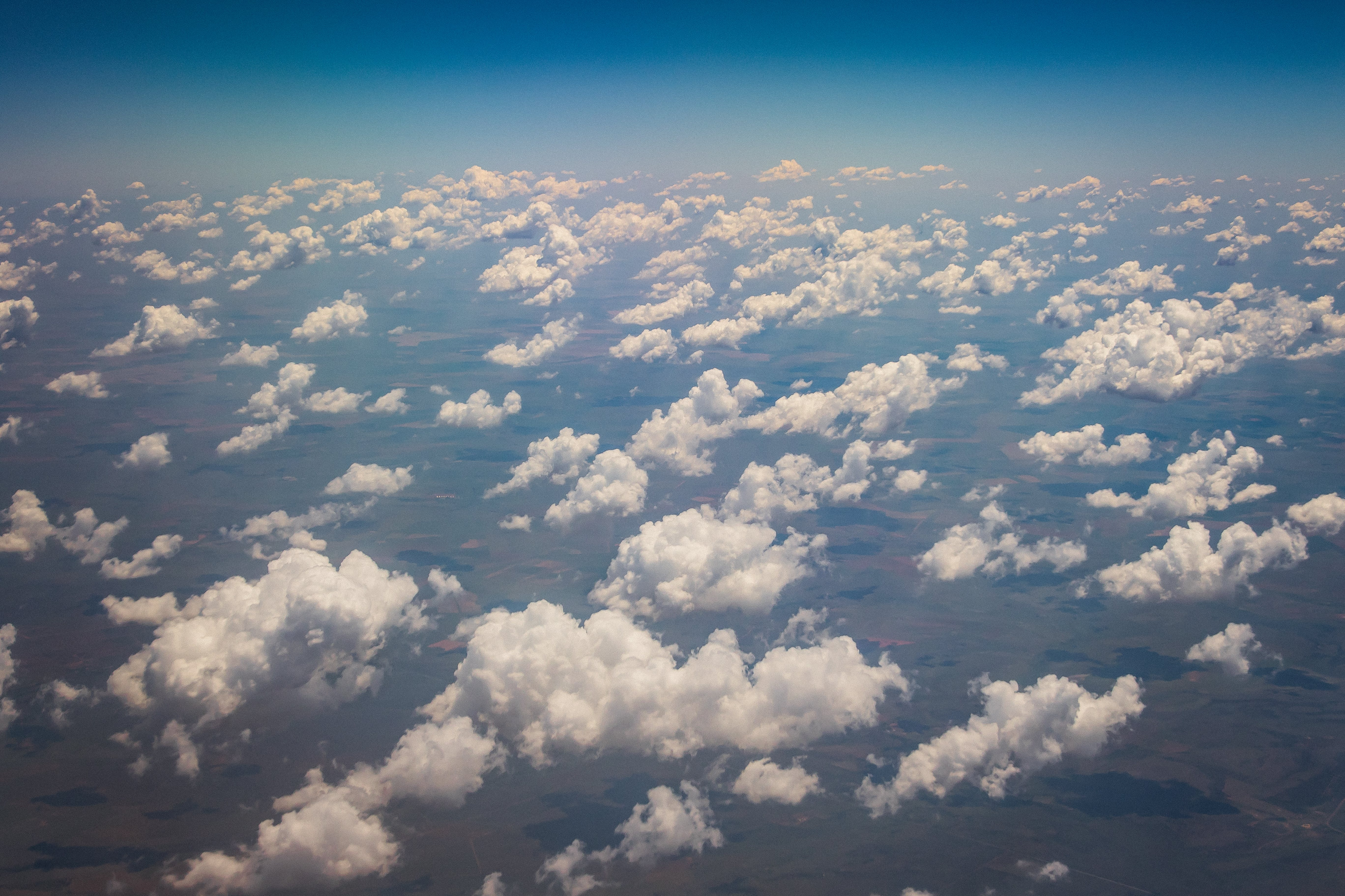 Free stock photo of aerial shot, aerial view, blue sky, clouds
