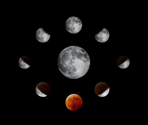 Immagine gratuita di eclissi, luna, luna rossa