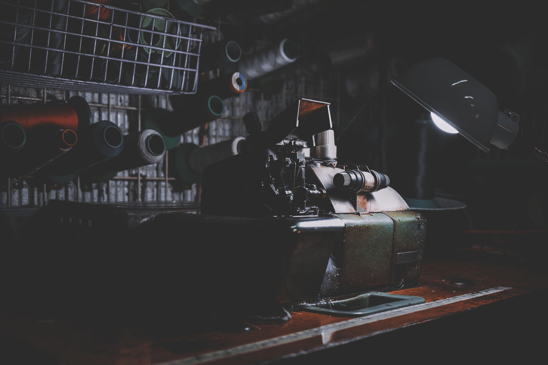 Brown Industrial Machine Inside Room