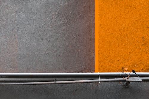 建築, 橙子, 橙橘, 水泥牆 的 免費圖庫相片
