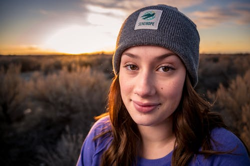 Close-Up Photo of Woman Wearing Beanie