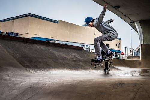 Foto stok gratis aktif, bermain skateboard, cara, energi