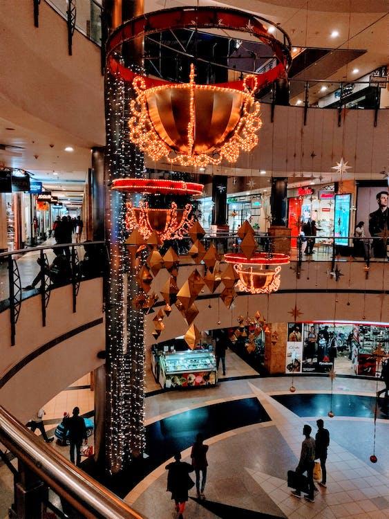 Free stock photo of india, light, shopping mall