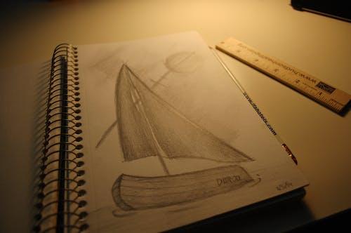 Free stock photo of design, dim light, drawing, pencil