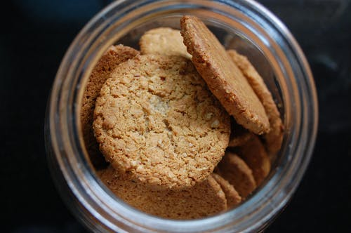 Free stock photo of cookie, jar, oatmeal, snack