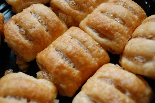 Free stock photo of apple strudel, golden brown, pastry, puff pastry