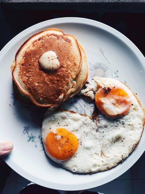Free stock photo of eggs, pancakes