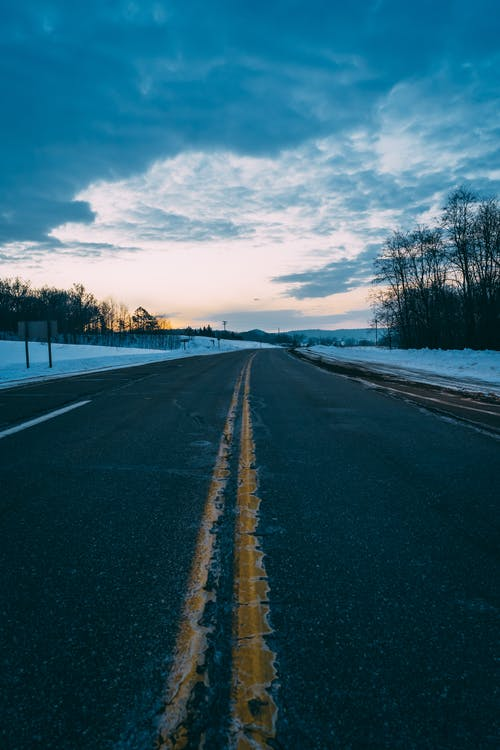 Ingyenes stockfotó aszfalt, ég, festői, hó témában