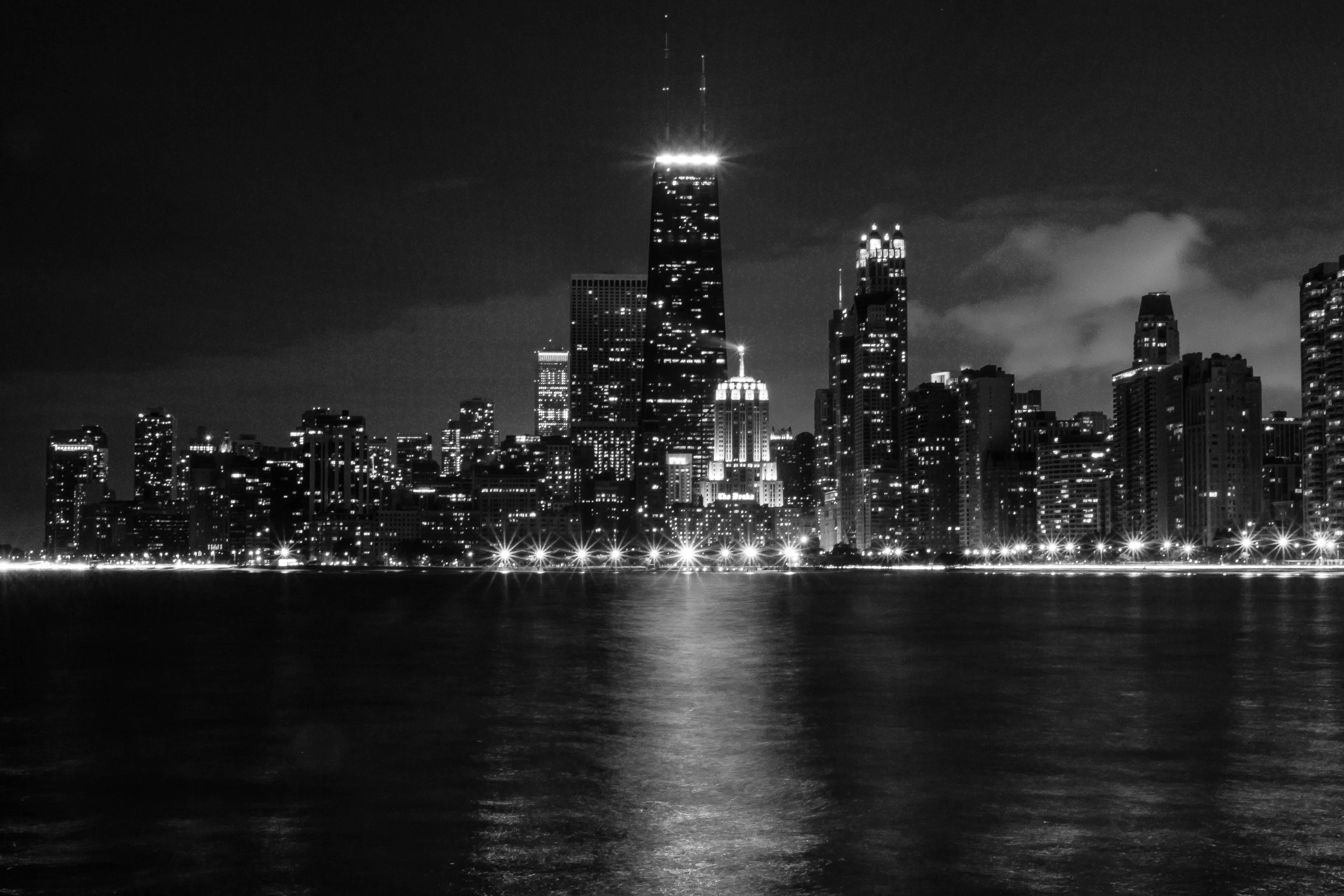 Free stock photo of city, nighttime, city lights, chicago
