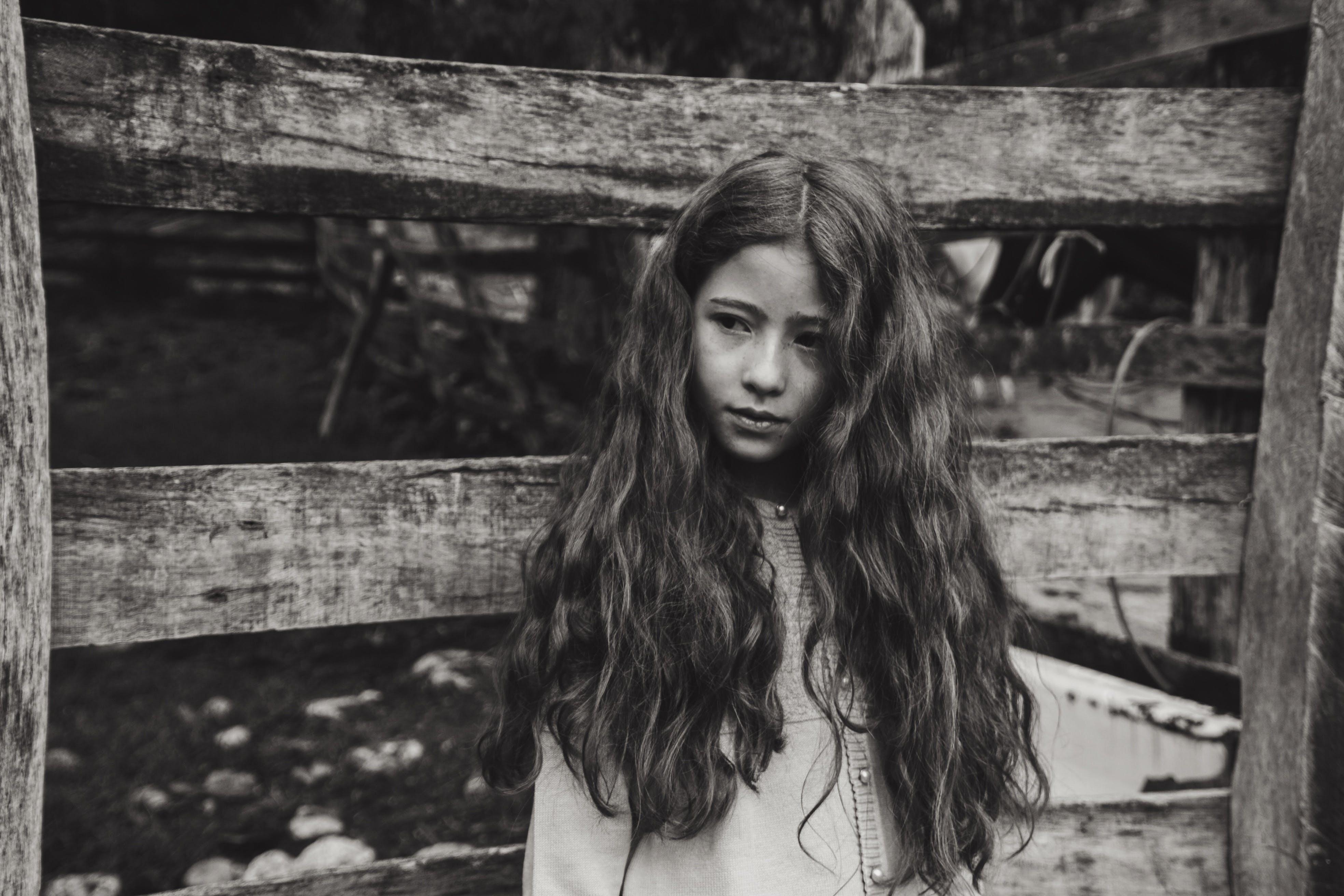 of beautiful, beauty, black and white, child