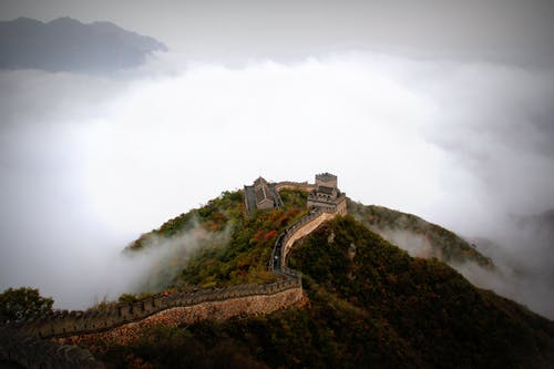 Aerial Photography of Great Wall of China