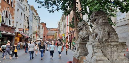 Foto d'estoc gratuïta de Asiàtic, barri xinès, dracs, escultures
