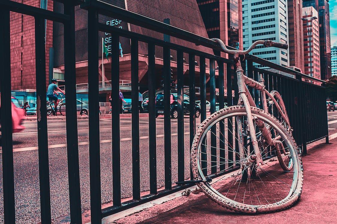 architektúra, bicykel, budovy