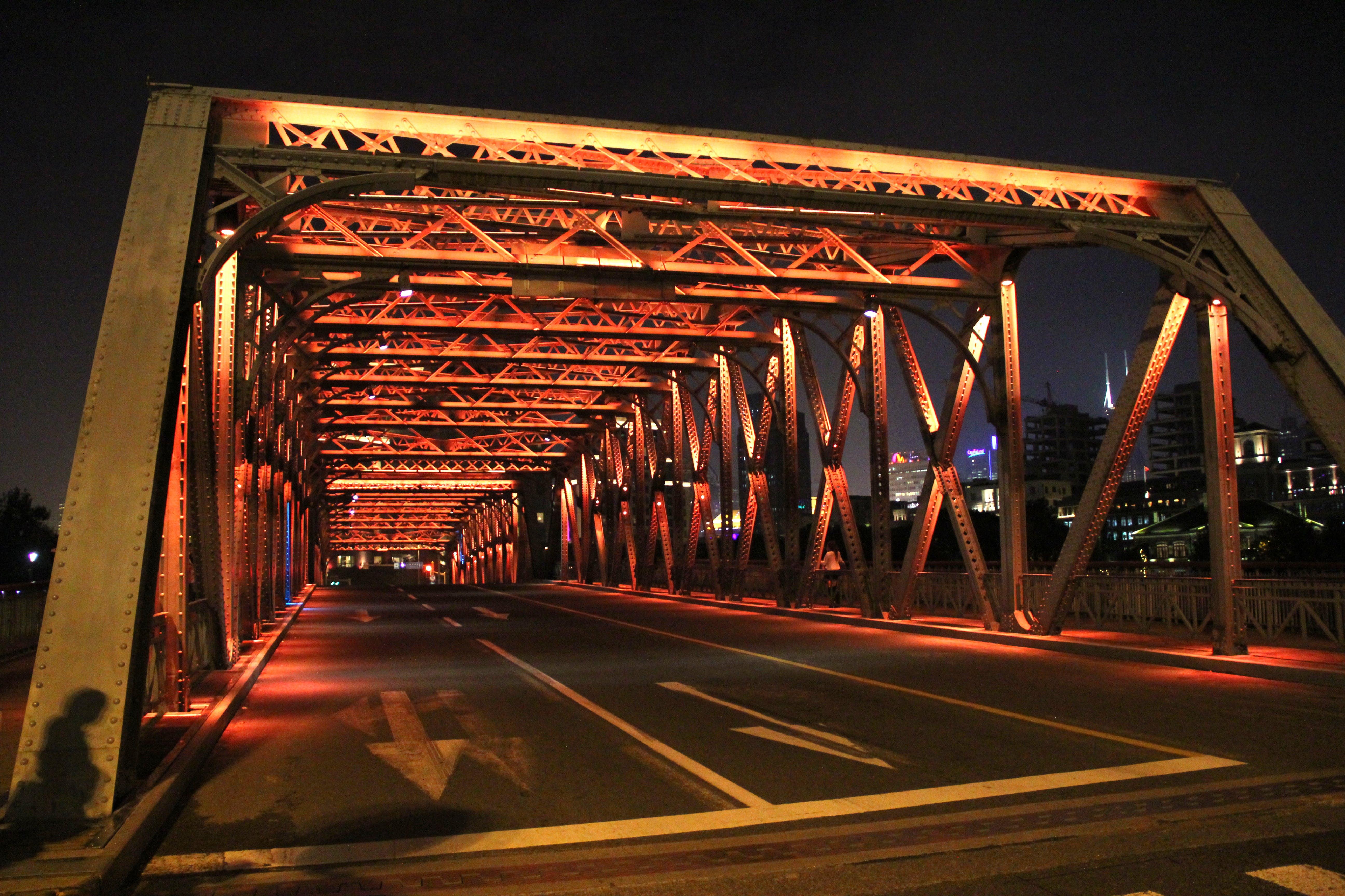 Free stock photo of bridge, night, shanghai