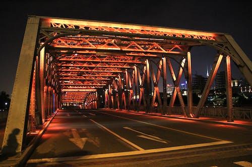 Gratis arkivbilde med bro, natt, shanghai