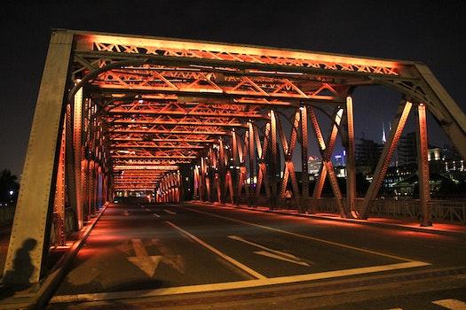 Free stock photo of night, bridge, shanghai