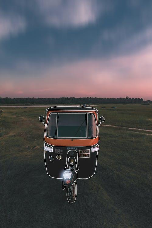 4k wallpaper, asia, auto rickshaw