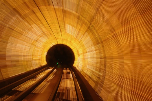 Free stock photo of tunnel, long-exposure