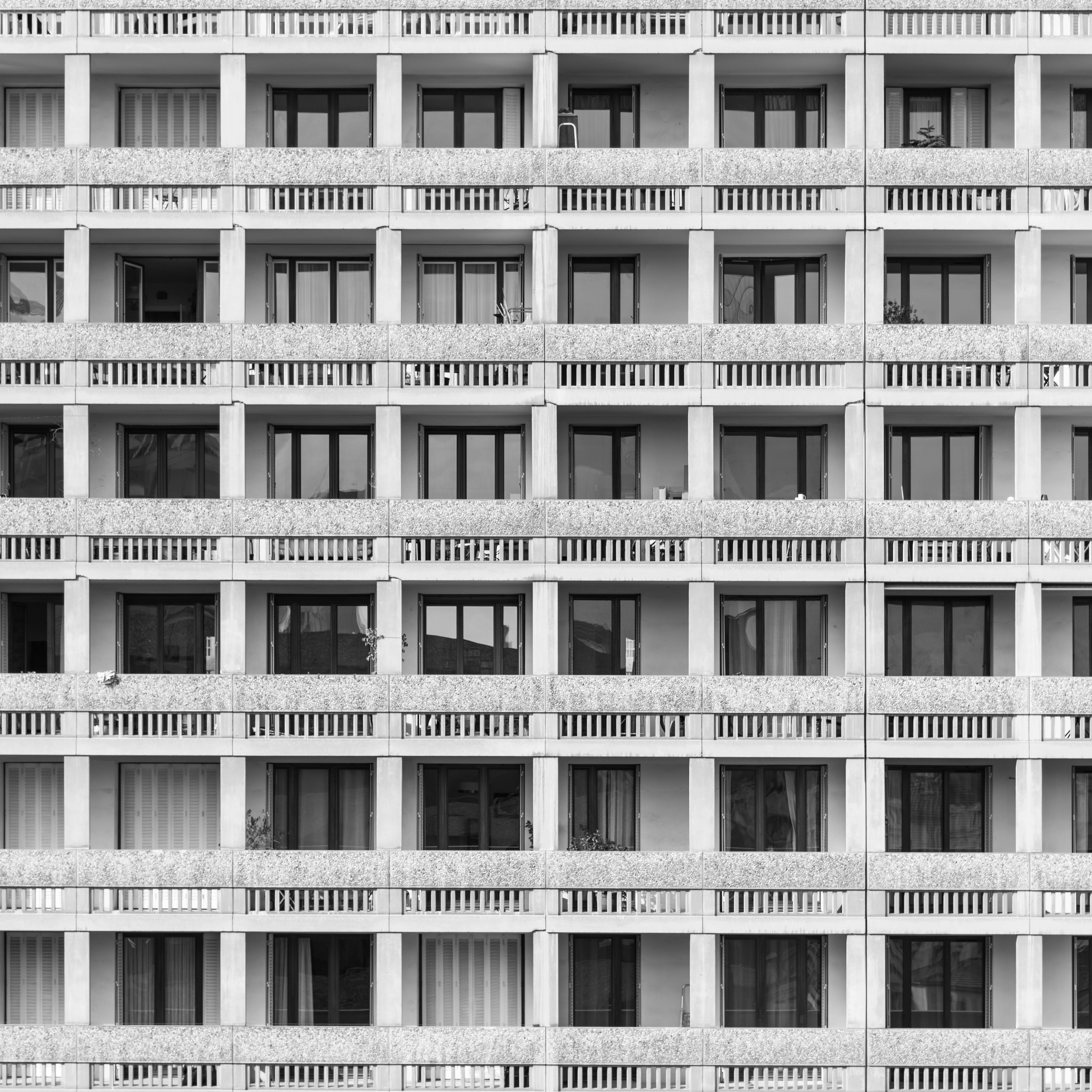 Free stock photo of apartment buildings, architectural design, balconies, balcony