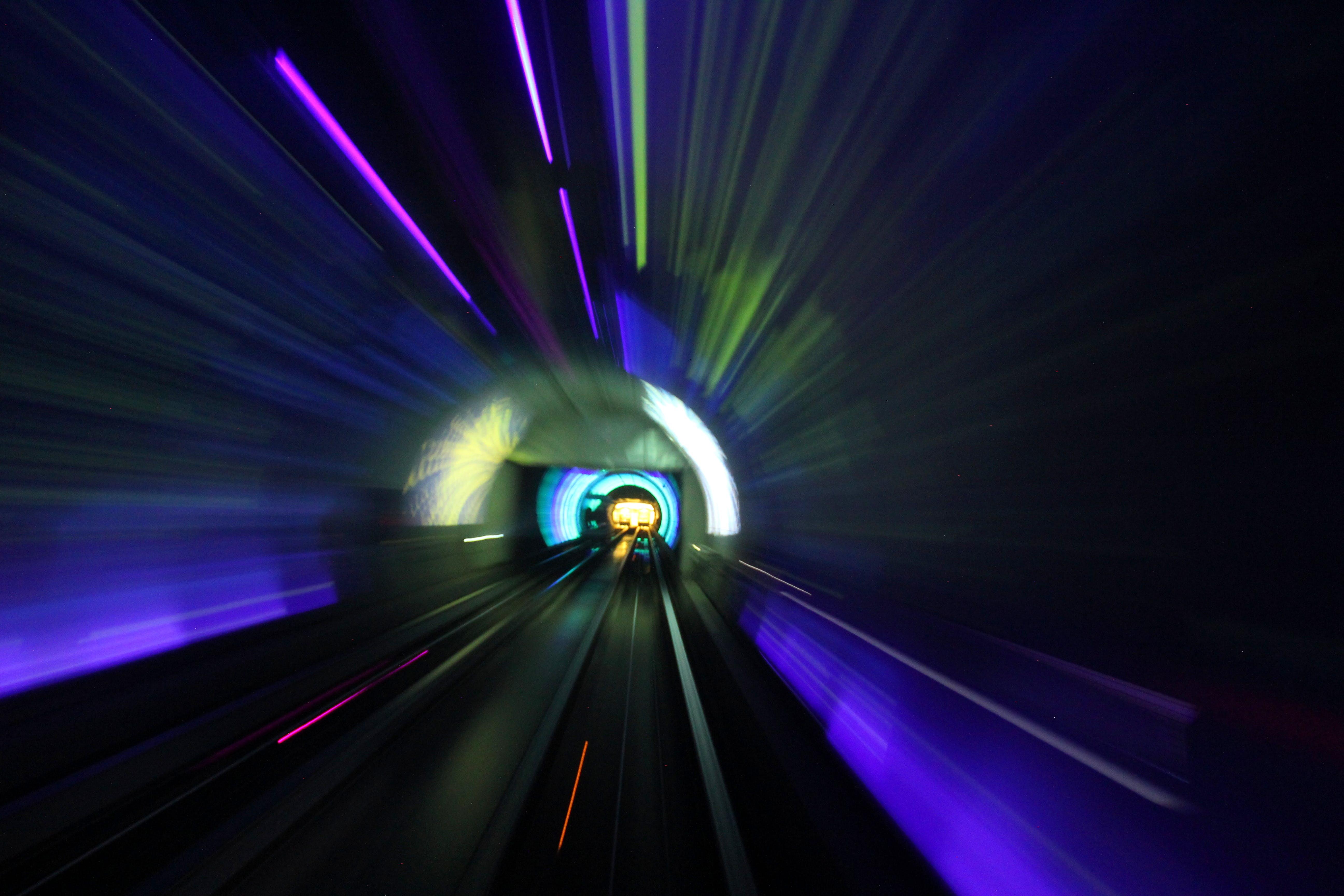 Free stock photo of long-exposure, shanghai, tunnel