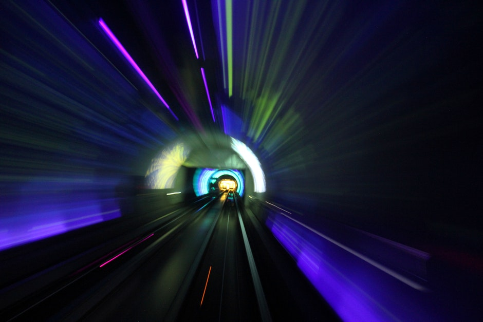 long-exposure, shanghai, tunnel