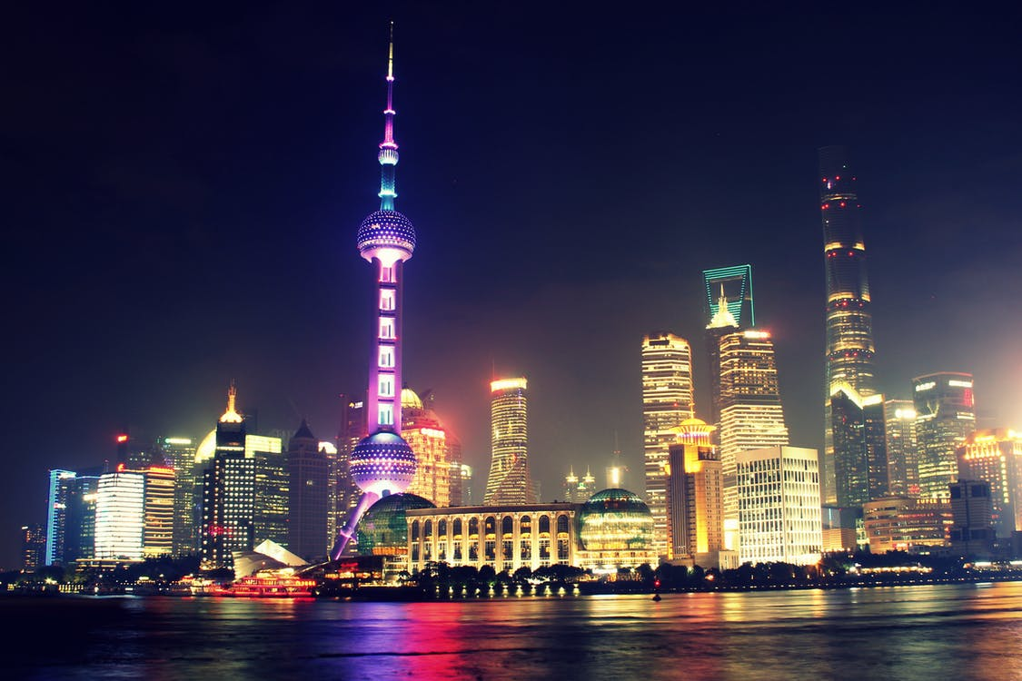 Asien, byggnader, höghus