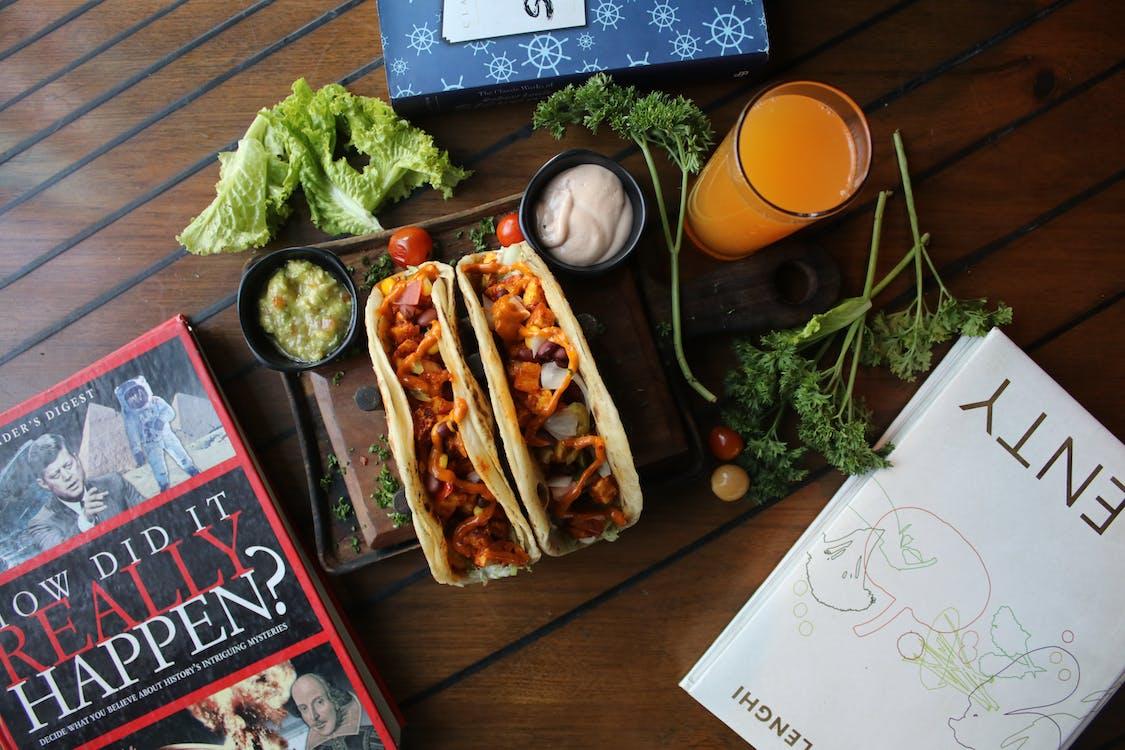 Ingyenes stockfotó foodphotography, foodporn, könyvek témában