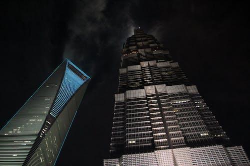 Ingyenes stockfotó felhőkarcolók, grand hyatt, Sanghaj, shanghai világ pénzügyi központja témában