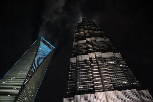 Free stock photo of skyscrapers, shanghai, grand hyatt, shanghai world financial center