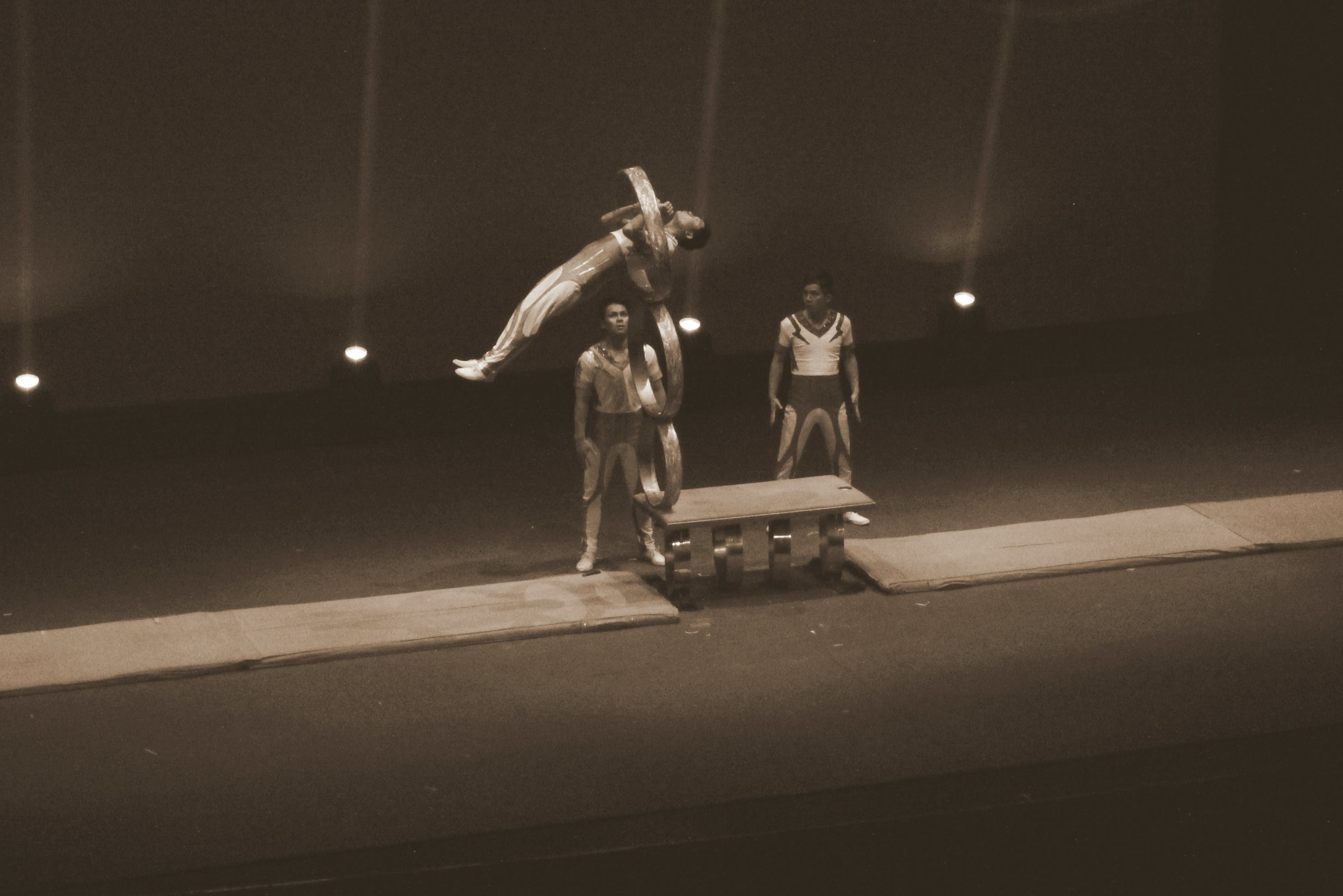 Free stock photo of acrobatic, flying, jumping, sepia