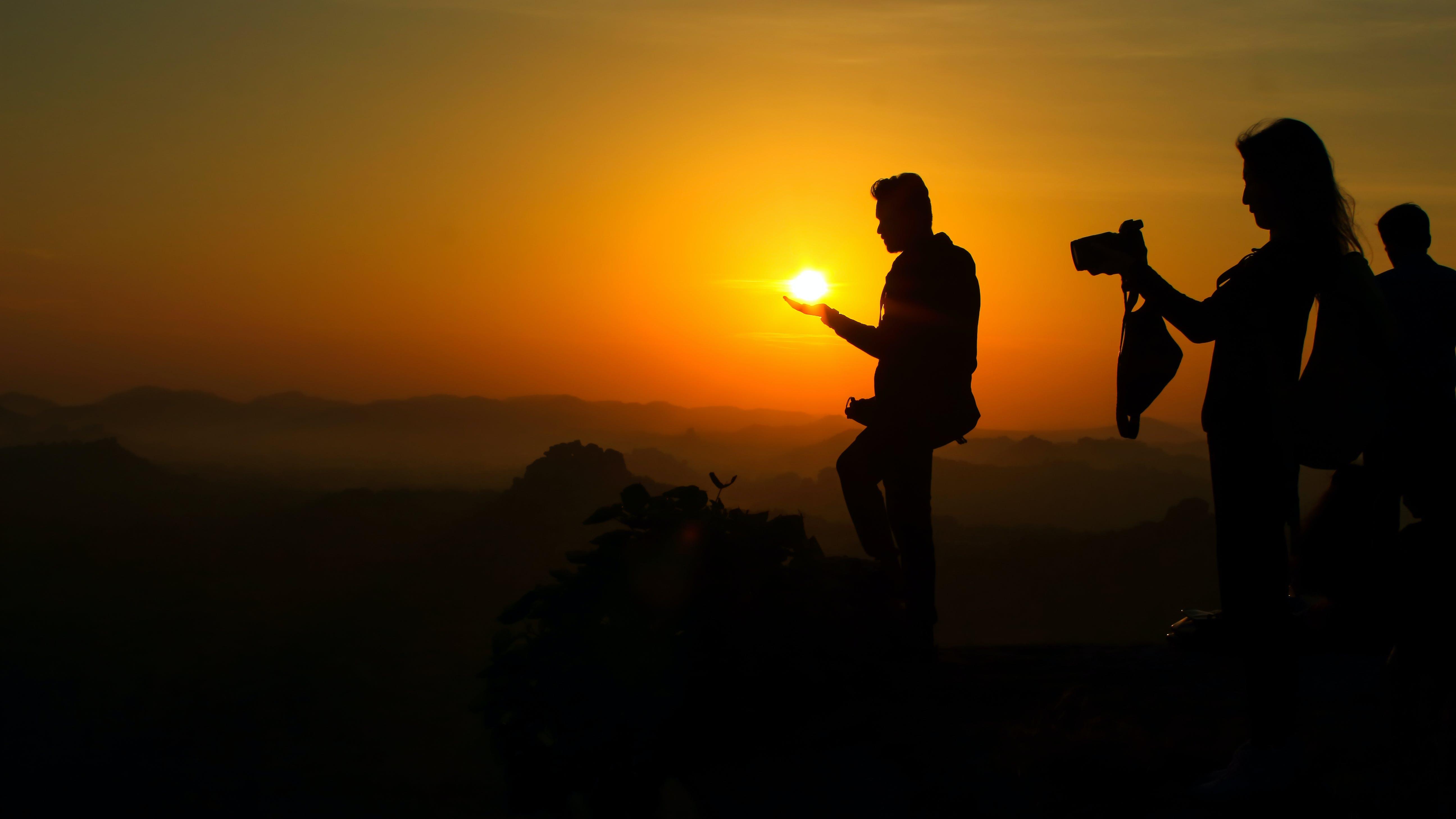 Δωρεάν στοκ φωτογραφιών με hampi, Ανατολή ηλίου, άνδρας, άνθρωπος