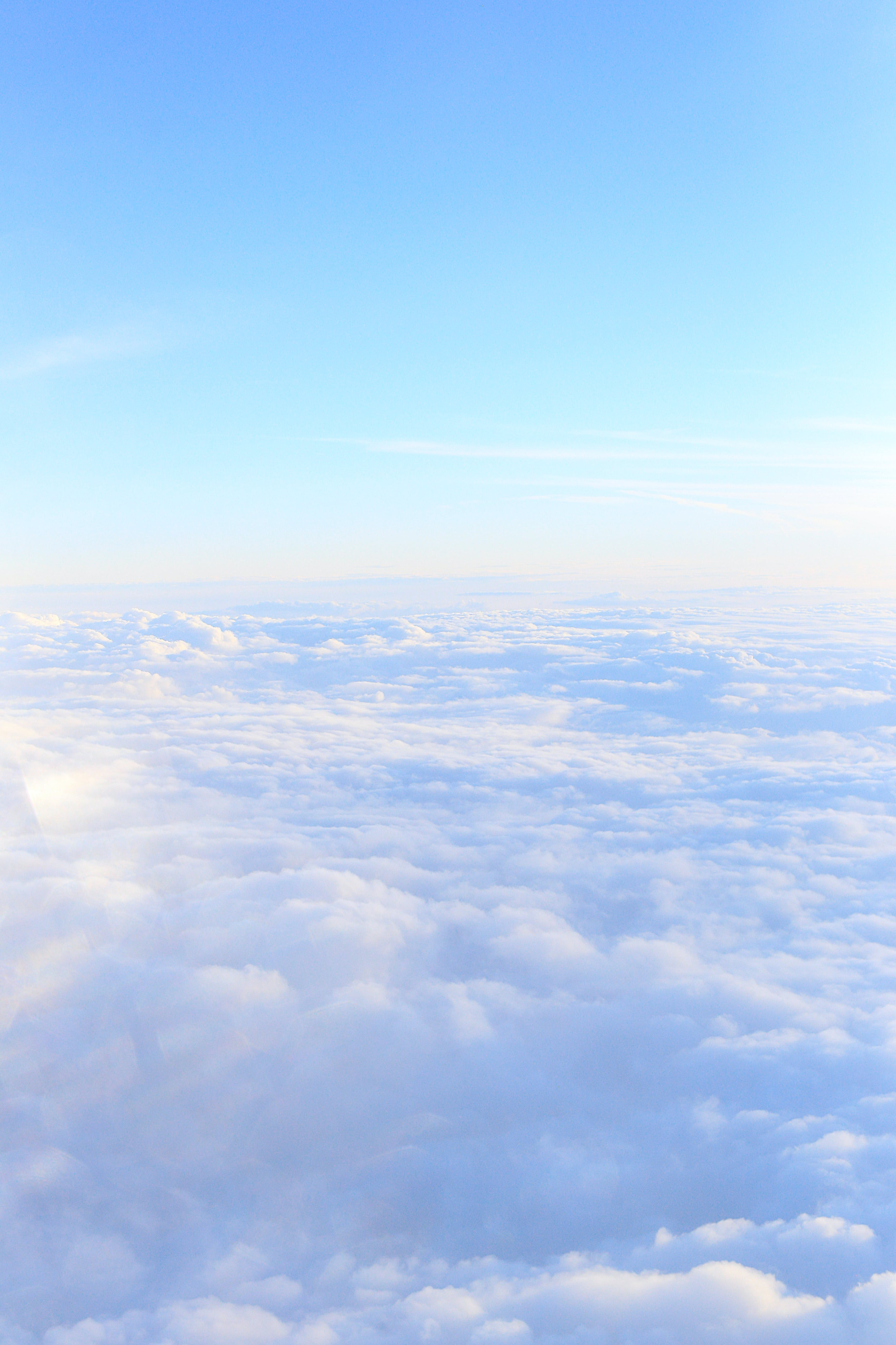 Free stock photo of above, aerial view, atmosphere, blue