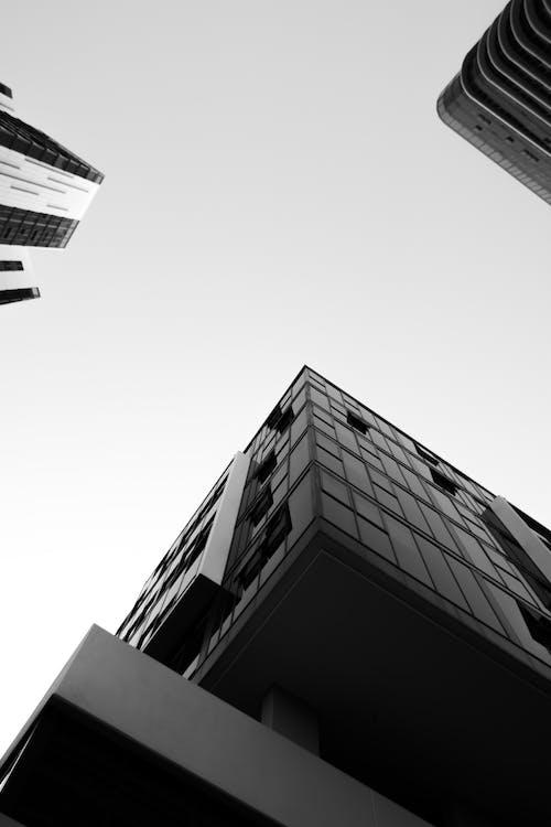architecture, black and white