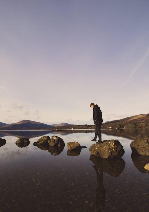 Kostenloses Stock Foto zu felsen, goldene stunde, landschaft, landschaftlich