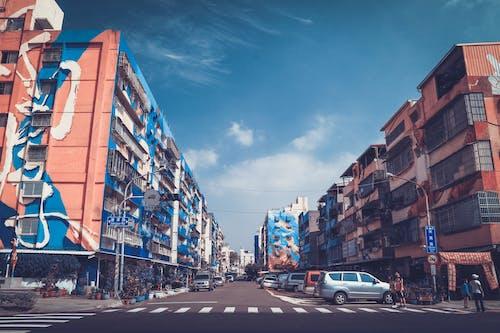 คลังภาพถ่ายฟรี ของ ภาพจิตรกรรมฝาผนัง, เขตเมือง