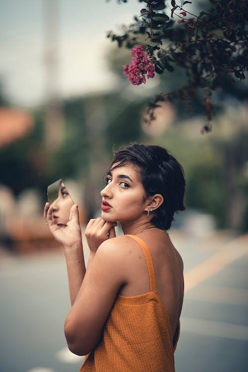 女人, 漂亮, 美女, 鏡子 的 免費圖庫相片