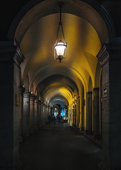 Základová fotografie zdarma na téma architektura, lehký, noc, oblouky