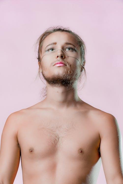 Foto stok gratis badan, berbulu, bertelanjang dada, bibir