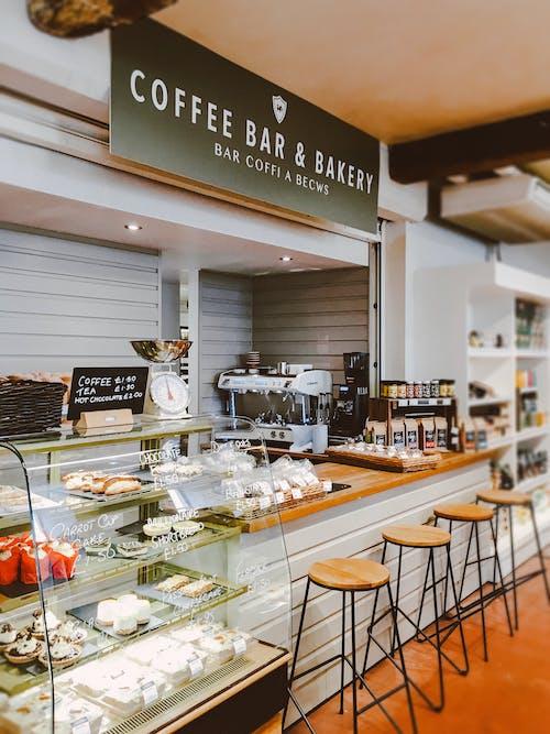 คลังภาพถ่ายฟรี ของ คาเฟ่, ร้านกาแฟ, เบเกอรี่, ในร่ม