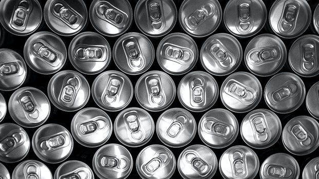 Free stock photo of black-and-white, cans, doses