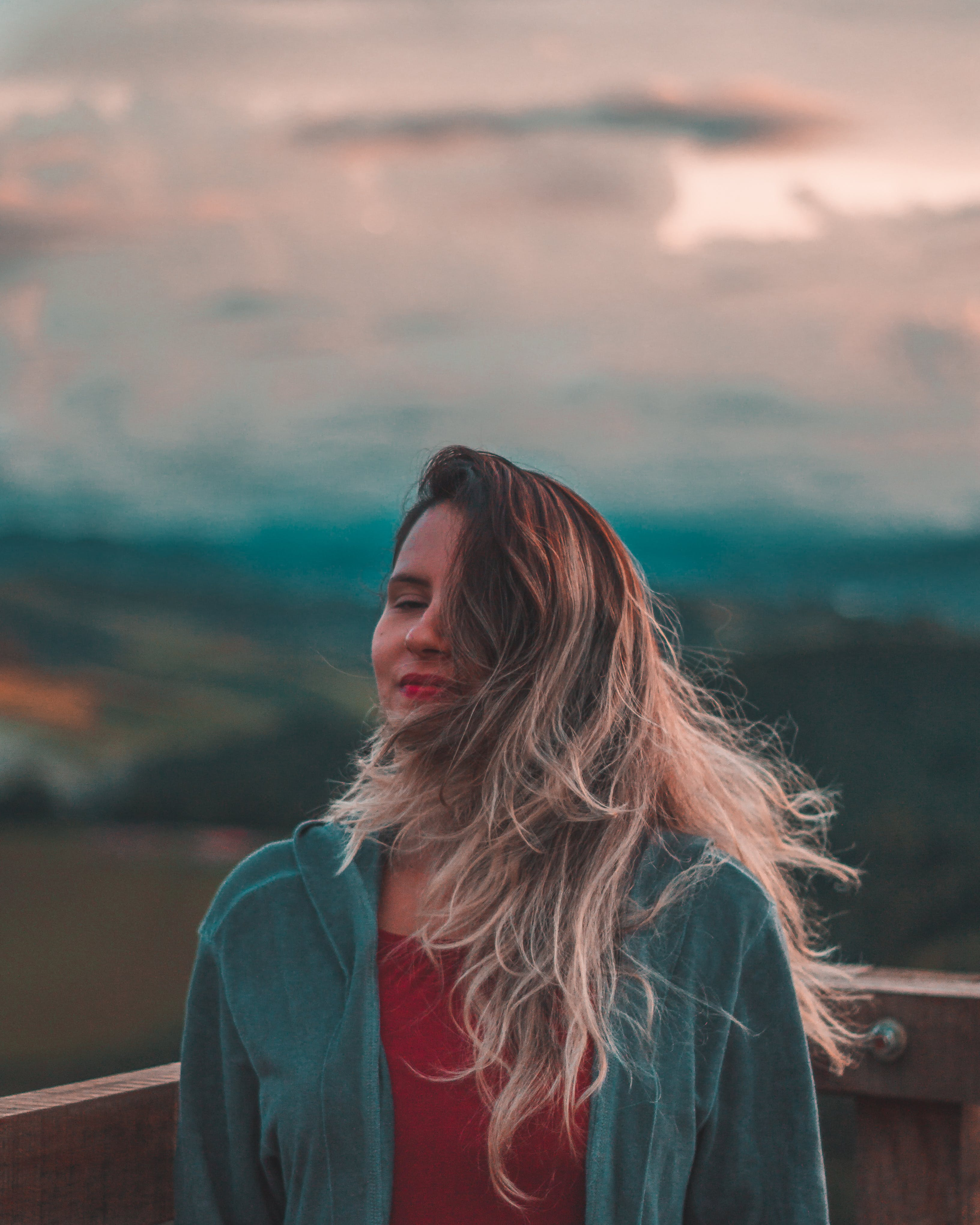 Free stock photo of blonde, clouds, hair