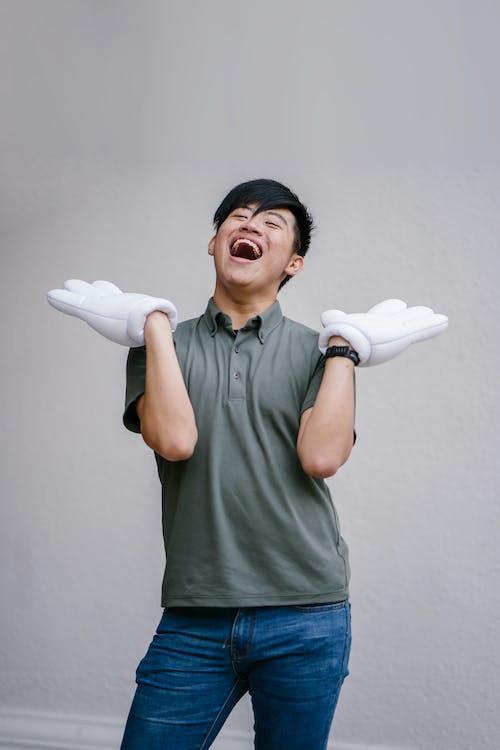 Imagine de stoc gratuită din arată bine, bărbat asiatic, bucurie, expresie facială