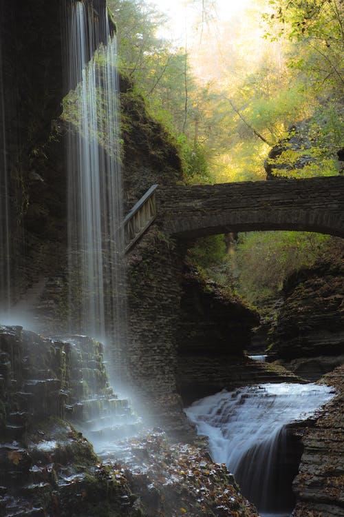 Waterfalls and Concrete Bridge