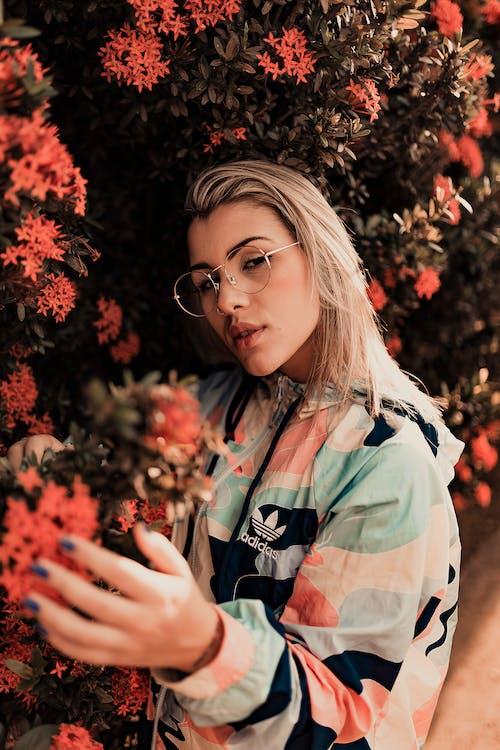 Základová fotografie zdarma na téma blond, brýle, bunda