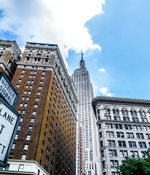 Gratis lagerfoto af arkitektur, blå himmel, by, empire state building