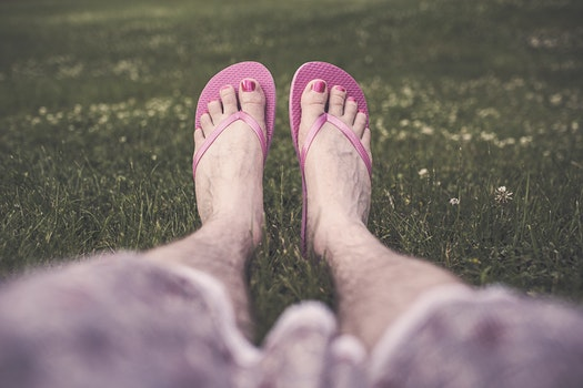 Free stock photo of man, feet, legs, relaxing