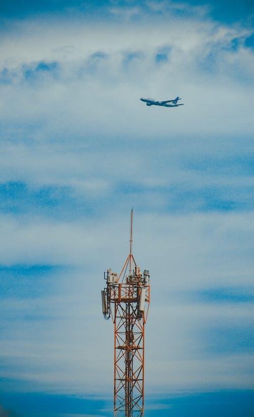 Free stock photo of aviao, torre, torre de celular