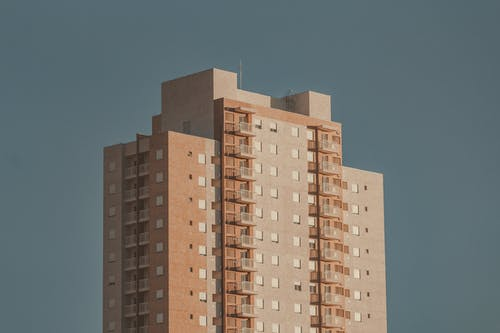 Brown and Beige High-rise Building