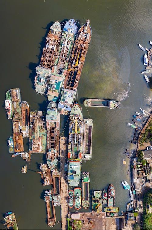 Fotobanka sbezplatnými fotkami na tému dopravný systém, Indonézia, letecký záber, more